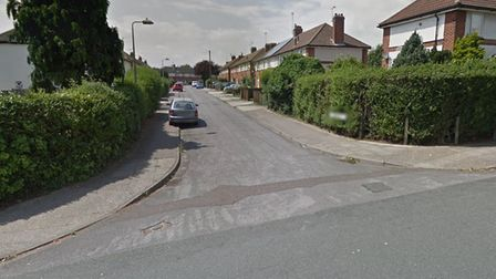 The incident happened on the junction between Dombey Road and Dickens Road in Ipswich Picture: GOOGL