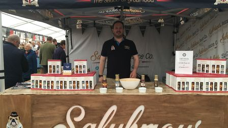 Jim Fennell at the Salubrious stand in the food tent at the Suffolk Show Picture: KATY SANDALLS
