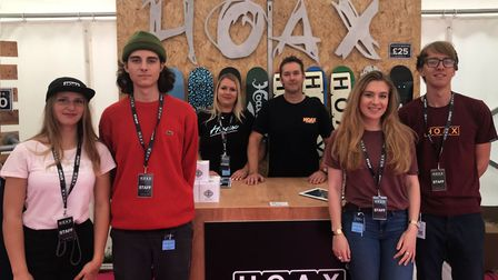 The Hoax team in Fifth Avenue Picture: ROSS HALLS