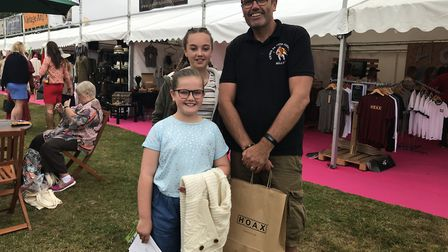 Cliff Baldock, Hoax customer, with his girls Picture: ROSS HALLS