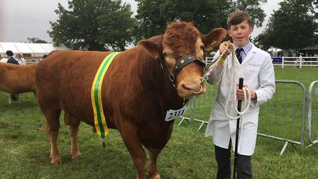 South Devon supreme champion Z Poringhorne Bentley with Oliver Laity, 15, of Truro, whose family has