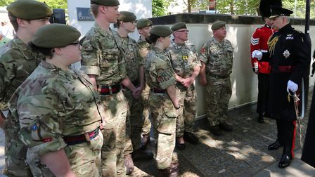 Army cadets from Ixworth met Prince Andrew following the Black Sunday Remembrance Service in London