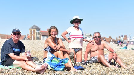 Fun in the August sun on Aldeburgh beach. Will this year's bank holiday be a hot one? Picture: SARAH
