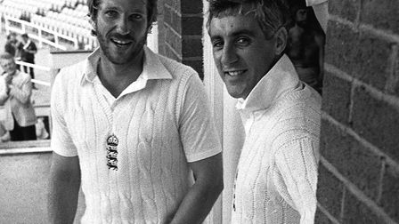 Mike Brearley (right) and Ian Botham at Headingley, Leeds, after England beat Australia in the Third