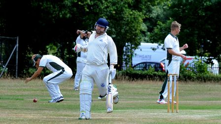 Ipswichs Joe Rusby (55) led the scorecharts for the Suffolk visitors at Coggeshall Photo: ANDY ABBO