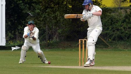 Woolpit's Oliver Whiteman in action. He made 86 as Woolpit beat Witham Photo: PHIL MORLEY