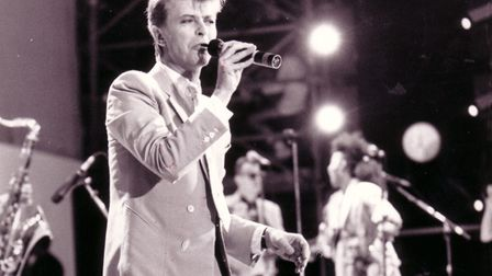 Picture of David Bowie from 1986. Picture: EDP LIBRARY