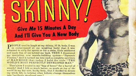 In the 60s, Charles Atlas was keen to help skinny chaps develop more muscles. Picture: WIKICOMMONS
