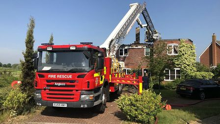 Lightning struck a house in Stanway, Colchester, and left it badly damaged Picture: JUMBO NEWS
