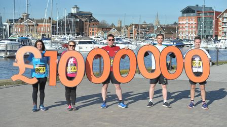 �1million was raised for good causes by runners who took part in the half marathon event last year P