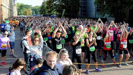 Participants get set to race at the first Simplyhealth Great East Run in Ipswich Picture: ANDY ABBOT