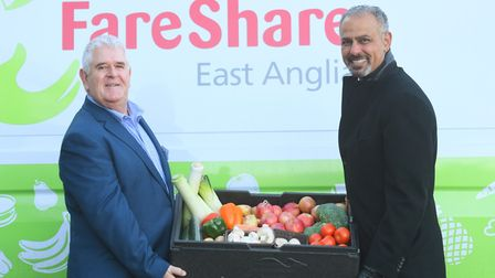 Food charity Fareshare launching in Ipswich. Left to right, Michael Barrett (Development Manager) an