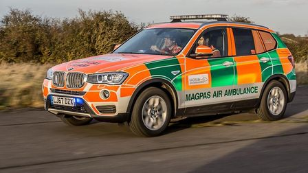 The Magpas rapid response BMW, which was used to attend the incident Picture: MAGPAS