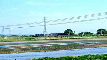 British Transport Police helped passengers off a stalled train between Manningtree and Ipswich Pictu
