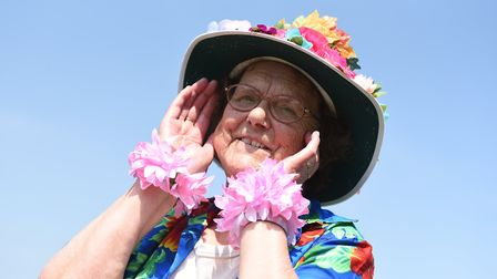 Maureen Rose getting into the 'flower power' theme Picture: SARAH LUCY BROWN