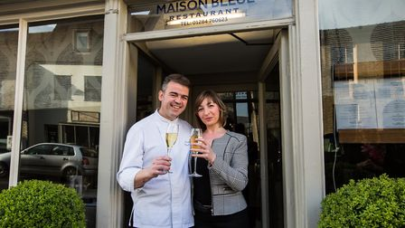 Chef patron Pascal Canevet and his wife Karine at their award-winning Bury St Edmunds restaurant Mai