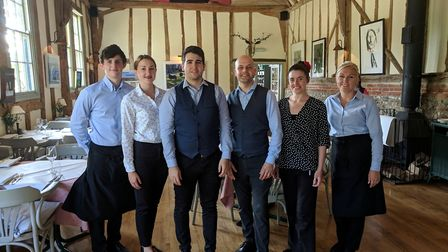 Staff at the Leaping Hare share their delight after being listed as one of the top 100 restaurants i