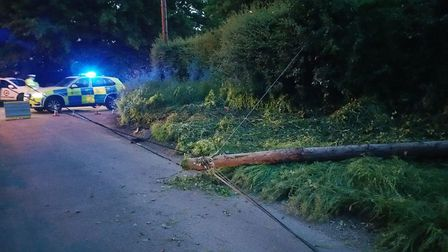 The scene of a crash in Manningtree Picture: PC JONATHAN McDONALD