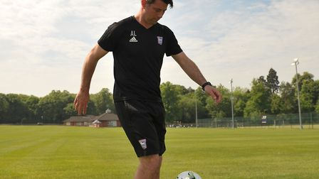 Alan Lee with a bit of keepy-up at Culford School, where he is set to be Head of Football Picture: S