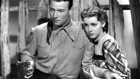 John Wayne & Marsha Hunt in Born to the West. Photo: Paramount Pictures