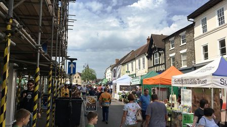 Crowds flocked to the Whitsun Fayre in Bury St Edmunds Picture: MICHAEL STEWARD
