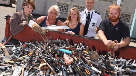 Ms Shearer's charity Only Cowards Carry campaigns for better awareness of knife crime and its conseq