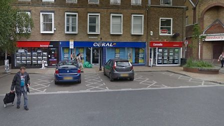 The second robbery happened at Coral bookies in Great Square, Braintree Picture: GOOGLE MAPS