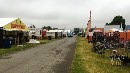An early start for some exhibitors at the Suffolk Show. Picture: PAUL GEATER