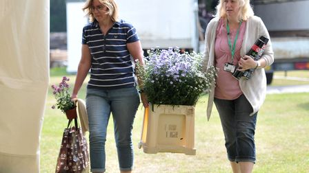 Exhibitors bring in their flowers Picture: SARAH LUCY BROWN