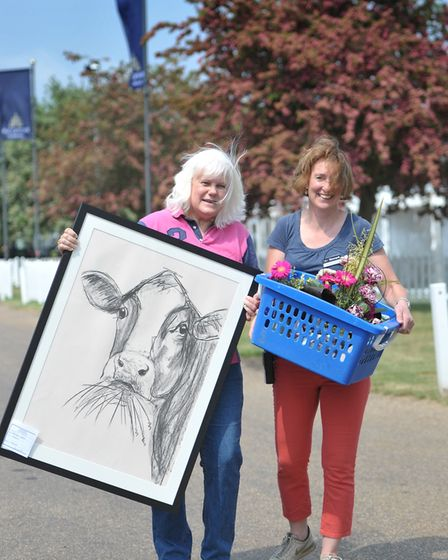 Adine Schrankel and Rachel Summers at the Trinity Park Picture: SARAH LUCY BROWN