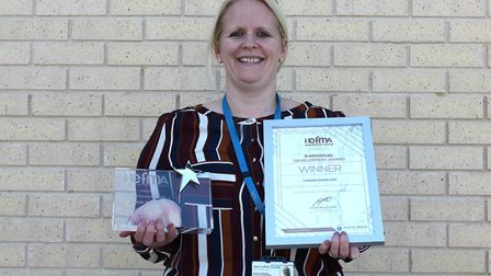 Hannah Sharland, estates and facilties project manager at WSFT, who scooped a national award Picture