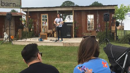Oliver Trevers performing on the stage at the Flower and Garden show at the Suffolk Show Picture: KA