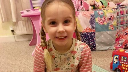 Indie-Rose Clarry, four, who had Dravet syndrome Picture: SUPPLIED BY FAMILY