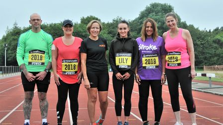 The novice runners are preparing to take on the 13.1 mile race in September. From L-R: Nick Partridg