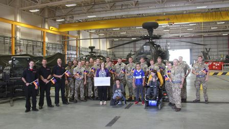The children and their families enjoyed a day out at the airfield - complete with helicopters and fi