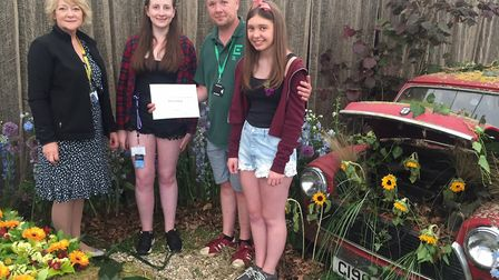 Easton and Otley College students Carole Bonner, Maddison Arnold, Philip Pollard and Bethany Reason,