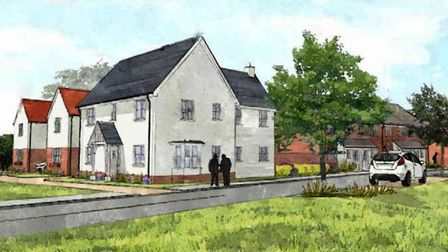 An artist's impression of some of the new homes planned for Clacton. Picture: PERSIMMON HOMES/TENDRI