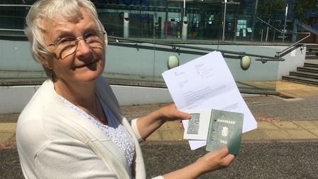 Inga Lockington should soon have a UK passport as well as her Danish EU document Picture: PAUL GEAT