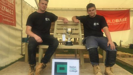 Hugh Barker and Adam Strowger - Easton and Otley College winners