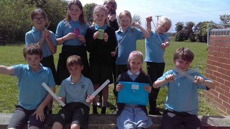 Pupils celebrate their Maths in Motion success Picture: ORFORD CEVA PRIMARY SCHOOL