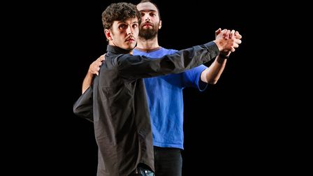 Nasi Voutsas & Bertrand Lesca in Palmyra, part of PULSE 2018, hosted by the New Wolsey Theatre. Phot