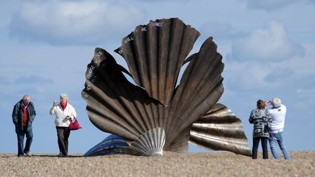 The Suffolk coast, including the Scallop sculpture at Aldeburgh, was praised in our last survey Pict