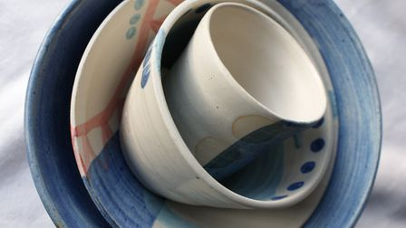 Stoneware by Lucy Perry who is taking part in Suffolk Open Studios this June. Photo: Suffolk Open St