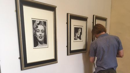 Setting up the Timeless Marilyn Monroe exhibition at Moyes Hall in Bury St Edmunds Picture: EMMA MAR