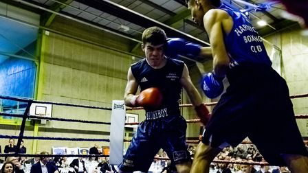 Action from the boxing tournament at Brackenbury Sports Centre Picture: RAINYWOOD PHOTOGRAPHY