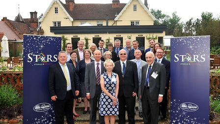 Councillors and key supporters at the launch of Stars of Babergh & Mid Suffolk at The Oaksmere Hotel