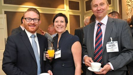 Arthur Charvonia, Tracey Loynds and John Ward at the launch at The Oaksmere Hotel, Brome Picture: LU