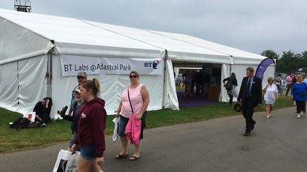The BT stand at the Suffolk Show Picture: PAUL GEATER