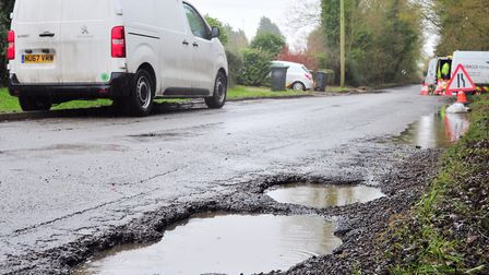 Potholes are among the most common issues raised at the We Are Listening events Picture: SARAH LUC