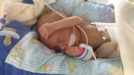 Baby Ralphy, who died aged seven weeks Picture: SUPPLIED BY FAMILY